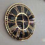 Golden Black Model Altın Siyah Renk Dekoratif Aynalı Duvar Saati-6