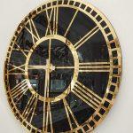 Golden Black Model Altın Siyah Renk Dekoratif Aynalı Duvar Saati-8