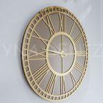 Golden Bronze Model Altın Bronz Renk Dekoratif Aynalı Duvar Saati-1