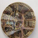 Golden Bronze Model Altın Bronz Renk Dekoratif Aynalı Duvar Saati-18