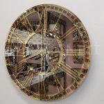 Golden Bronze Model Altın Bronz Renk Dekoratif Aynalı Duvar Saati-3