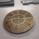 Golden Bronze Model Altın Bronz Renk Dekoratif Aynalı Duvar Saati-9