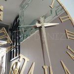 Golden Jet Bronze Model Altın Bronz Renk Dekoratif Aynalı Duvar Saati-12