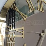 Golden Jet Bronze Model Altın Bronz Renk Dekoratif Aynalı Duvar Saati-15