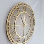 Golden Roma Bronze Model Altın Bronz Renk Dekoratif Aynalı Duvar Saati-10