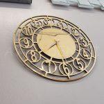 Golden Space Model Altın Renk Dekoratif Aynalı Duvar Saati-4