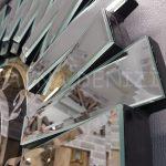 Güneş Argent Black Model Gümüş Siyah Renk Dekoratif Aynalı Duvar Saati-17