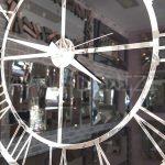 Güneş Silver Black Model Gümüş Renk Dekoratif Aynalı Duvar Saati-11