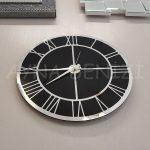 Silver Black Model Gümüş Siyah Renk Dekoratif Aynalı Duvar Saati-16