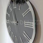 Silver Jet Smoked Model Gümüş Füme Renk Dekoratif Aynalı Duvar Saati-12