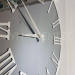 Silver Jet Smoked Model Gümüş Füme Renk Dekoratif Aynalı Duvar Saati-15