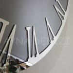 Silver Jet Smoked Model Gümüş Füme Renk Dekoratif Aynalı Duvar Saati-16