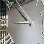 Silver Jet Smoked Model Gümüş Füme Renk Dekoratif Aynalı Duvar Saati-17