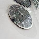 Silver Jet Smoked Model Gümüş Füme Renk Dekoratif Aynalı Duvar Saati-8