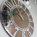 Silver Latin Bronze Model Gümüş Bronz Renk Dekoratif Aynalı Duvar Saati-10