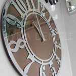 Silver Latin Bronze Model Gümüş Bronz Renk Dekoratif Aynalı Duvar Saati-3