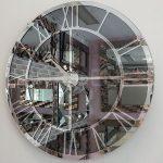 Silver Smoked Model Gümüş Füme Renk Dekoratif Aynalı Duvar Saati-3