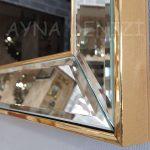 Allah C.C. Hz.Muhammed Yazılı Model Altın Renk Ayna Çerçeveli Tablo-22