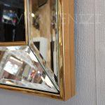 Allah C.C. Hz.Muhammed Yazılı Model Altın Renk Ayna Çerçeveli Tablo-24