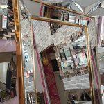 Ayna Çerçeveli Model Altın Renk Ayaklı Boy Aynası-10