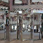 Ayna Çerçeveli Model Altın Renk Ayaklı Boy Aynası-11