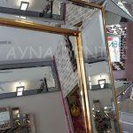 Ayna Çerçeveli Model Altın Renk Ayaklı Boy Aynası-13