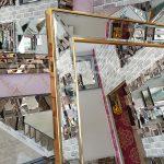 Ayna Çerçeveli Model Altın Renk Ayaklı Boy Aynası-14