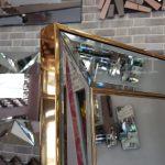 Ayna Çerçeveli Model Altın Renk Ayaklı Boy Aynası-17