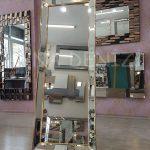 Ayna Çerçeveli Model Altın Renk Ayaklı Boy Aynası-3