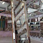 Ayna Çerçeveli Model Altın Renk Ayaklı Boy Aynası-5