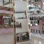 Ayna Çerçeveli Model Altın Renk Ayaklı Boy Aynası-6