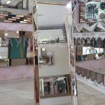 Ayna Çerçeveli Model Altın Renk Ayaklı Boy Aynası-8
