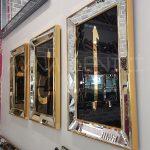 Elif Lam Mim Yazılı Model Altın Renk Ayna Çerçeveli Üçlü Tablo-12