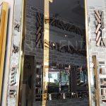 Elif Lam Mim Yazılı Model Altın Renk Ayna Çerçeveli Üçlü Tablo-16