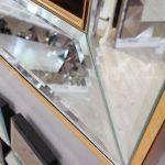 Elif Lam Mim Yazılı Model Altın Renk Ayna Çerçeveli Üçlü Tablo-19