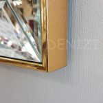 Elif Lam Mim Yazılı Model Altın Renk Ayna Çerçeveli Üçlü Tablo-20