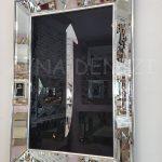 Elif Lam Mim Yazılı Model Gümüş Renk Ayna Çerçeveli Üçlü Tablo-11