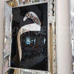 Elif Lam Mim Yazılı Model Gümüş Renk Ayna Çerçeveli Üçlü Tablo-13