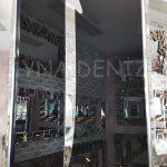 Elif Lam Mim Yazılı Model Gümüş Renk Ayna Çerçeveli Üçlü Tablo-14