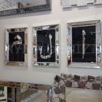 Elif Lam Mim Yazılı Model Gümüş Renk Ayna Çerçeveli Üçlü Tablo-2