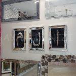 Elif Lam Mim Yazılı Model Gümüş Renk Ayna Çerçeveli Üçlü Tablo-8