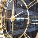 Güneş Gold Black Model Altın Siyah Renk Dekoratif Aynalı Duvar Saati-10