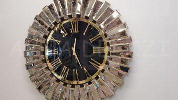 Güneş Golden Jet Black Model Altın Siyah Renk Aynalı Duvar Saati