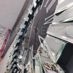 Güneş Silver Jet Black Model Gümüş Siyah Renk Dekoratif Aynalı Duvar Saati-12