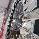 Güneş Silver Jet Black Model Gümüş Siyah Renk Dekoratif Aynalı Duvar Saati-15