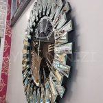 Güneş Silver Jet Black Model Gümüş Siyah Renk Dekoratif Aynalı Duvar Saati-5