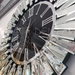 Güneş Silver Jet Black Model Gümüş Siyah Renk Dekoratif Aynalı Duvar Saati-8