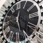Güneş Silver Jet Black Model Gümüş Siyah Renk Dekoratif Aynalı Duvar Saati-9