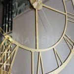 Gold Bronze Model Altın Bronz Renk Dekoratif Aynalı Duvar Saati-12