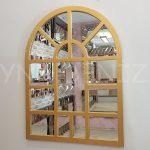 Galata Model Altın Renk Dekoratif Pencere Ayna-1